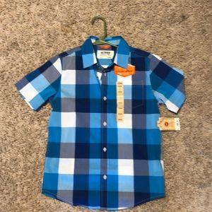 Boys shirt sleeve button down shirt. NWT